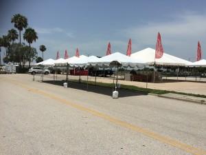 Sarasota Tent Rental at the Marina: 10x10 with concrete block