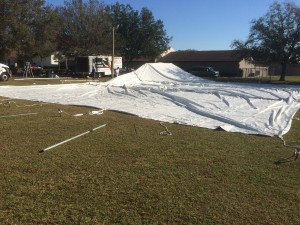 Totally flat Sarasota Tent Rental
