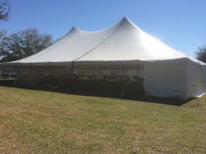 Fully Installed Wedding Tent