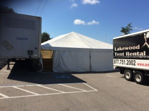 tent rentals for furniture warehouse