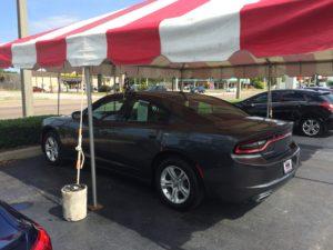 car dealership frame tent
