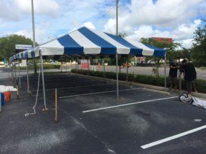 fireworks frame tent installation