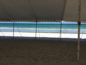 powerboat race vip pole tent
