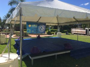 tent over a stage