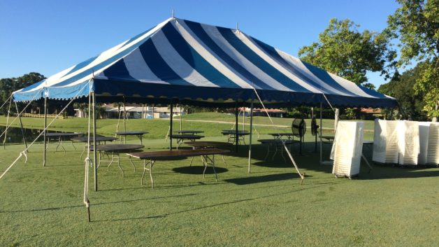the Palms golf club event tent