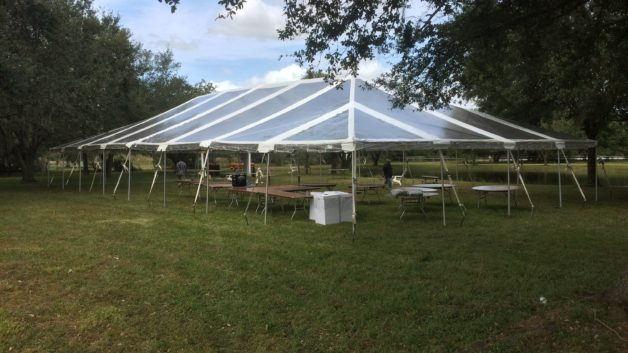 clear top party tent