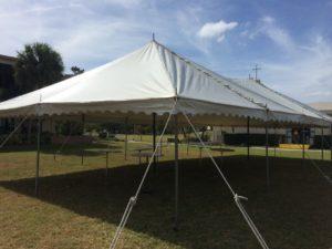 church fund raiser tent