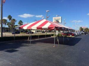 toyota car dealership promotion tent