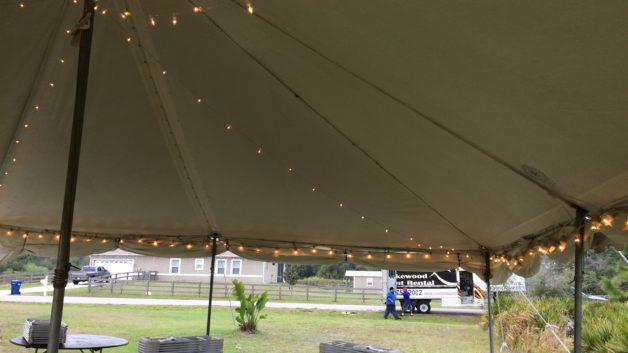 pole tent lighting