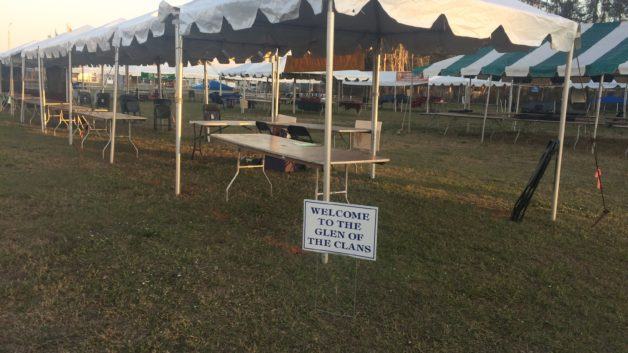 frame tents for an event
