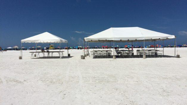 siesta beach tents